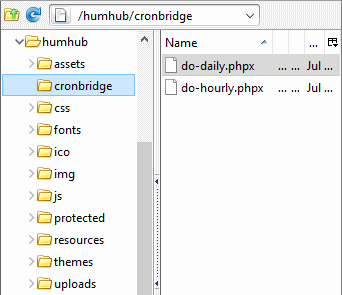 humhub-allinkl-cronjob-ftp